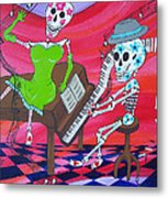 The Pianist Day Of The Dead Metal Print