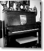The Piano And Clarinet  Metal Print