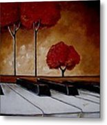 The Piano Man's Dream Metal Print