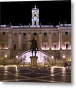 The Piazza Del Campidoglio At Night Metal Print
