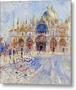 The Piazza San Marco Metal Print by Pierre Auguste Renoir