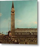 The Piazza San Marco Venice Metal Print