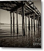 The Pier At Cayucos Metal Print