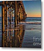 The Pier At Goleta Beach Metal Print
