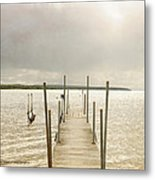 The Pier Metal Print by Beverly Cazzell