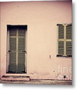 The Pink Building Metal Print