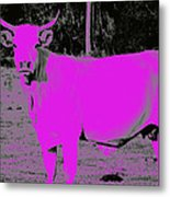 the Pink Cow Metal Print