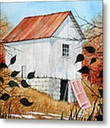 The Pink Door Metal Print