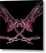 The Pink Falcon Metal Print