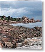 The Pink Granite Coast Brittany Metal Print