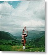 The Piper At The Great Glen Metal Print