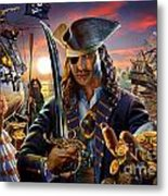 The Pirate Metal Print by Adrian Chesterman