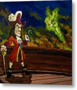 The Pirate And The Fairy Metal Print