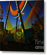 The Pirate Ship And Big Wheel  Metal Print