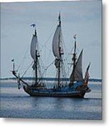 The Pirate Ship Metal Print by Cecelia Helwig