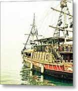 The Pirate Ship. Metal Print by Slavica Koceva