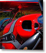 The Pitts S2-b Biplane - Will Allen Airshows Metal Print