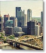 The Pittsburgh Skyline Metal Print
