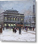 The Place Du Chatelet Paris Metal Print