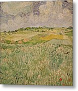 The Plain At Auvers Metal Print by Vincent Van Gogh