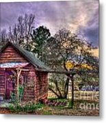 The Play House At Sunset Near Lake Oconee. Metal Print