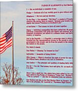 The Pledge Metal Print