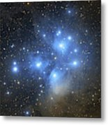 The Pleiades Open Star Cluster Metal Print