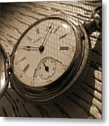 The Pocket Watch Metal Print