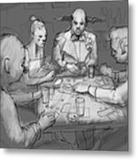 The Poker Game Metal Print