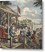 The Polling, Illustration From Hogarth Metal Print