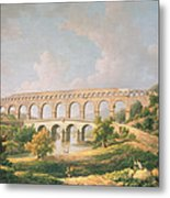 The Pont Du Gard, Nimes Metal Print