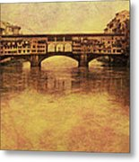 The Ponte Vecchio In Florence Italy Metal Print