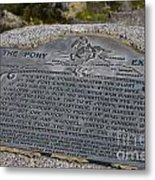 The Pony Express Marker Metal Print