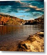 The Pool Below Upper Falls Rumford Maine Metal Print by Bob Orsillo
