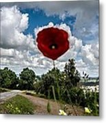 The Poppies Show You The Way Metal Print