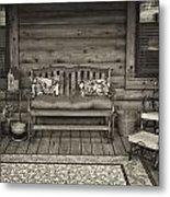 The Porch Metal Print