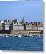 The Port Of St Malo France Metal Print