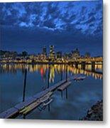 The Portland Oregon Waterfront Blue Hour Metal Print