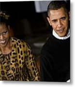 The President And First Lady Metal Print