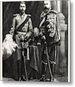 The Prince Of Wales And Prince George Of Wales Metal Print