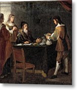 The Prodigal Son Receiving His Portion Of The Inheritance Metal Print