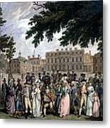 The Promenade In St James Park, C.1796 Metal Print