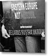 The Protest E Metal Print