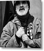 The Protester Metal Print