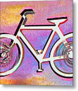The Psychedelic Bicycle Metal Print