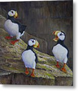 The Puffin Report Metal Print