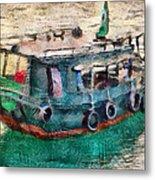 The Pulling Boat  Metal Print