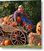 The Pumpkin Farmer Metal Print