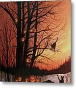 The Pumpkin Tree Metal Print