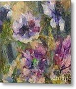 The Purple Bouquet Metal Print